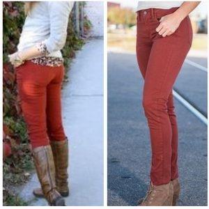 Levi's Rust 711 Skinny Jeans